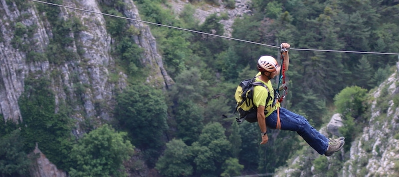 TYROLIENNE via ferrata
