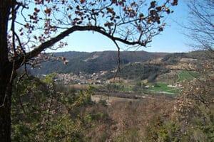 Vue du village du Castellet