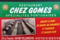 Carte Chez Gomes