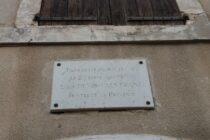 Plaque Louis Denis Valverane