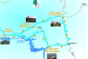 Route du Lac d'Esparron